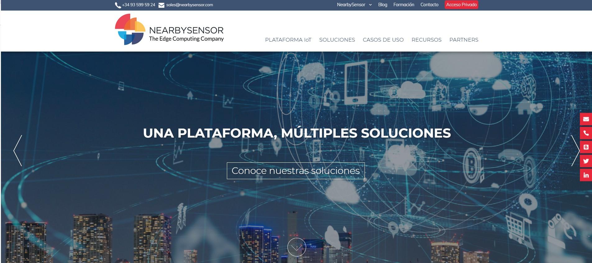 Nueva web de NearbySensor